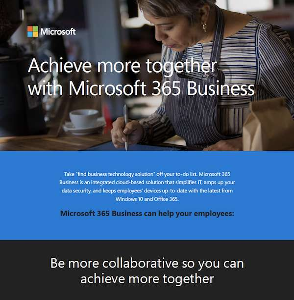 Achieve More Together With Microsoft 365 Business