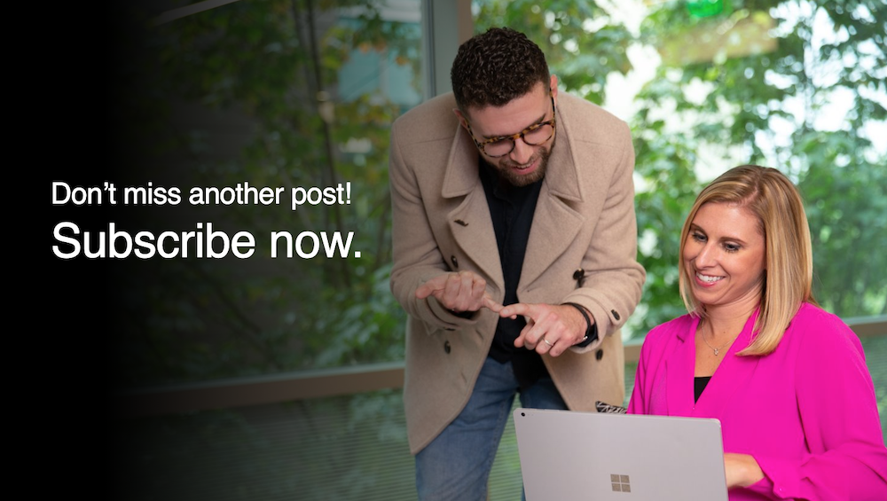 Don't miss another post! Subscribe now.